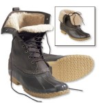 L.L.Bean 10 Inch Shearling-Lined Bean Boots $154.00