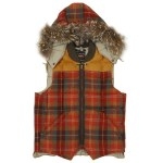 Nigel Cabourn x Eddie Bauer Orange Check Canadian Vest $870.00