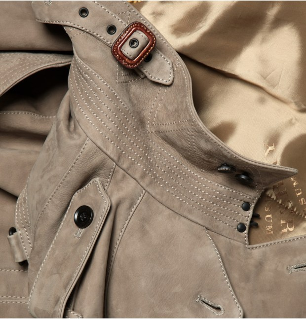 Burberry Prorsum Suede Trench Coat