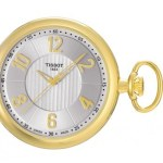 Tissot Brass Silver Mechanical Pocket Watch
