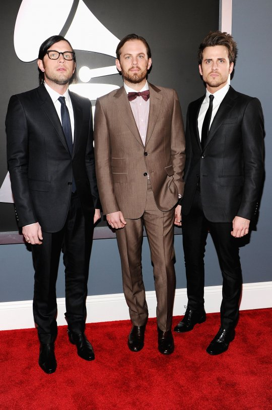 Caleb Followill Grammys 2012 Red Carpet