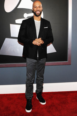 Common Grammys 2012 Red Carpet