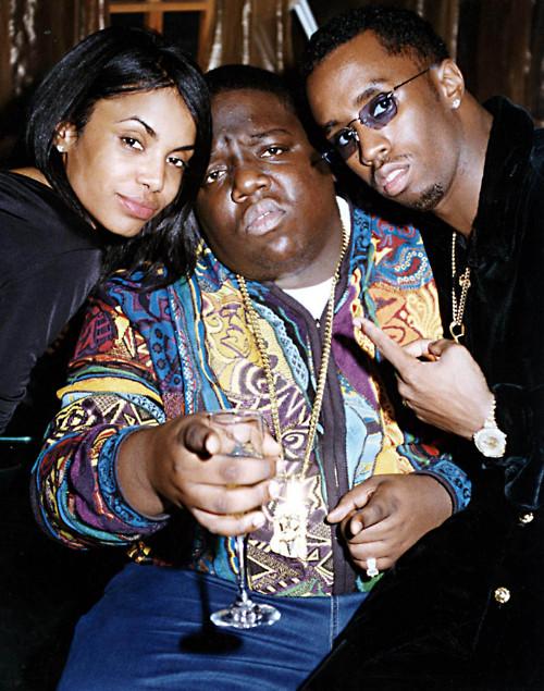 Notorious B.I.G., Puff Daddy, Kim Porter Photo