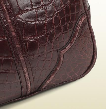 Gucci Helmut Crocodile Carry-On Men's Duffle Bag