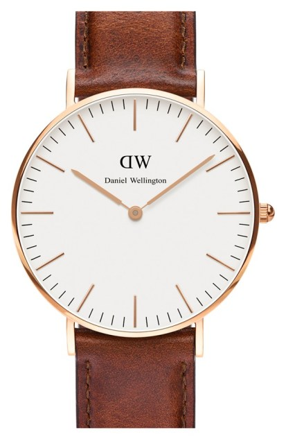 Daniel Wellington Classic St. Mawes' Leather Strap Watch