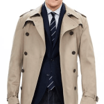 Banana Republic Men's Double-Breasted Trench Coat 4