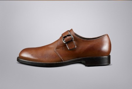 Tod's Brushed Brown Leather Monk Shoe