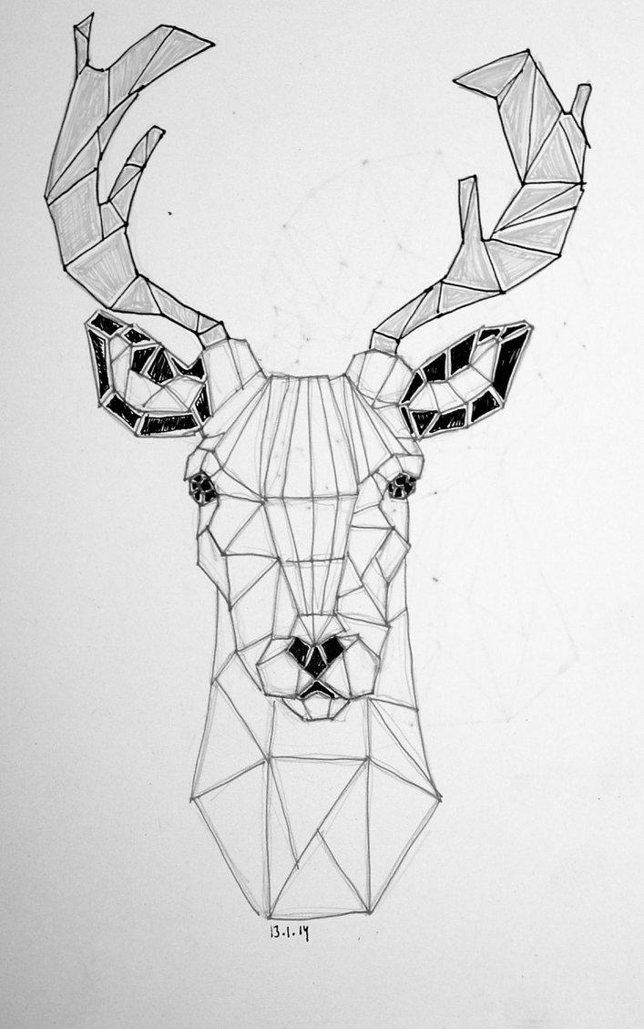 Cute Moose Wallpaper Geometric Tattoo Sketch Ideas Flawssy