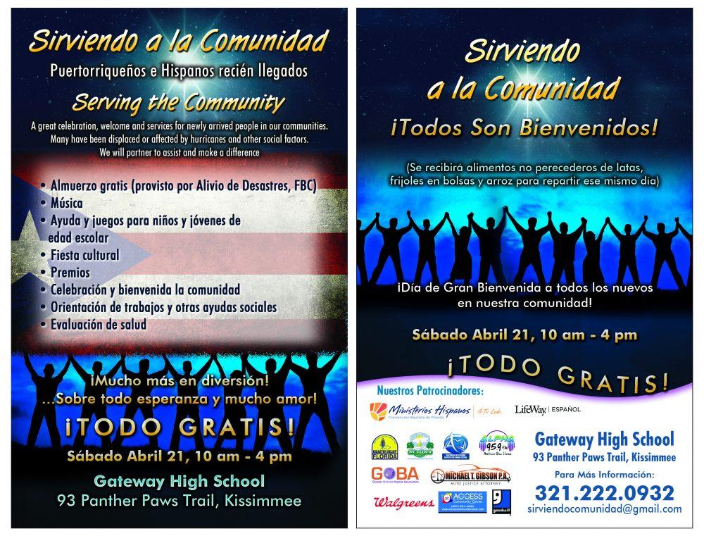 Flyer - SIRVIENDO A LA COMUNIDAD - Florida Baptist Convention FBC