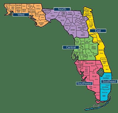 Florida Map - Florida Baptist Convention | FBC
