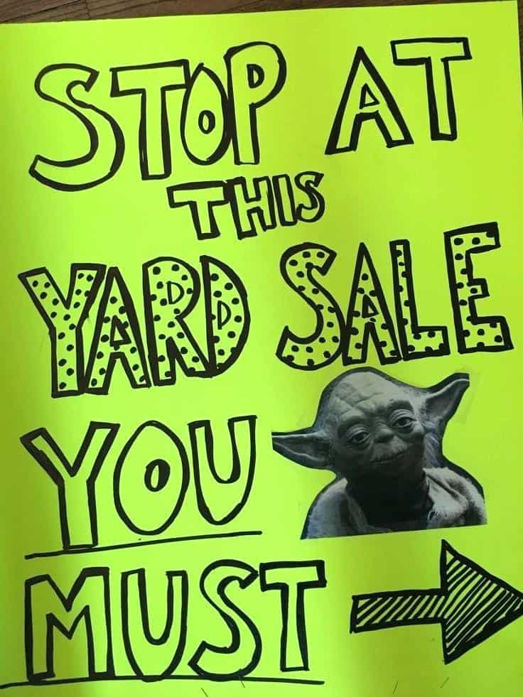 how to make garage sale signs
