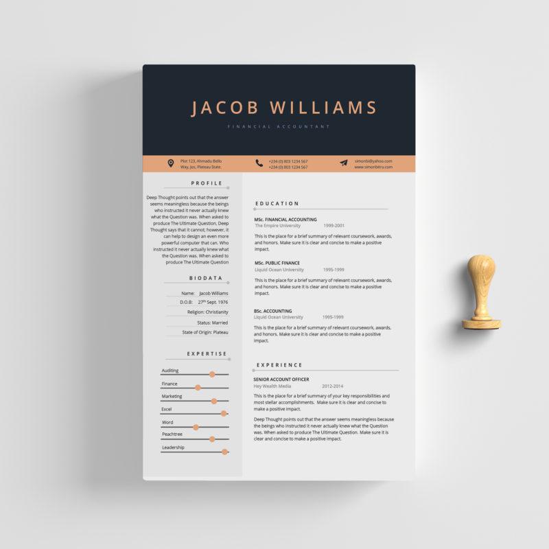 2-Page CV - Fleek Templates - The Best Microsoft Office Templates online