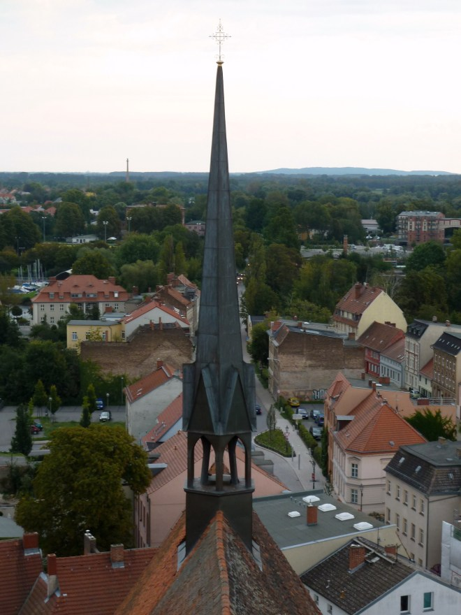 View of the city of Brandenburg from above. Photo courtesy of Nancy Grimm