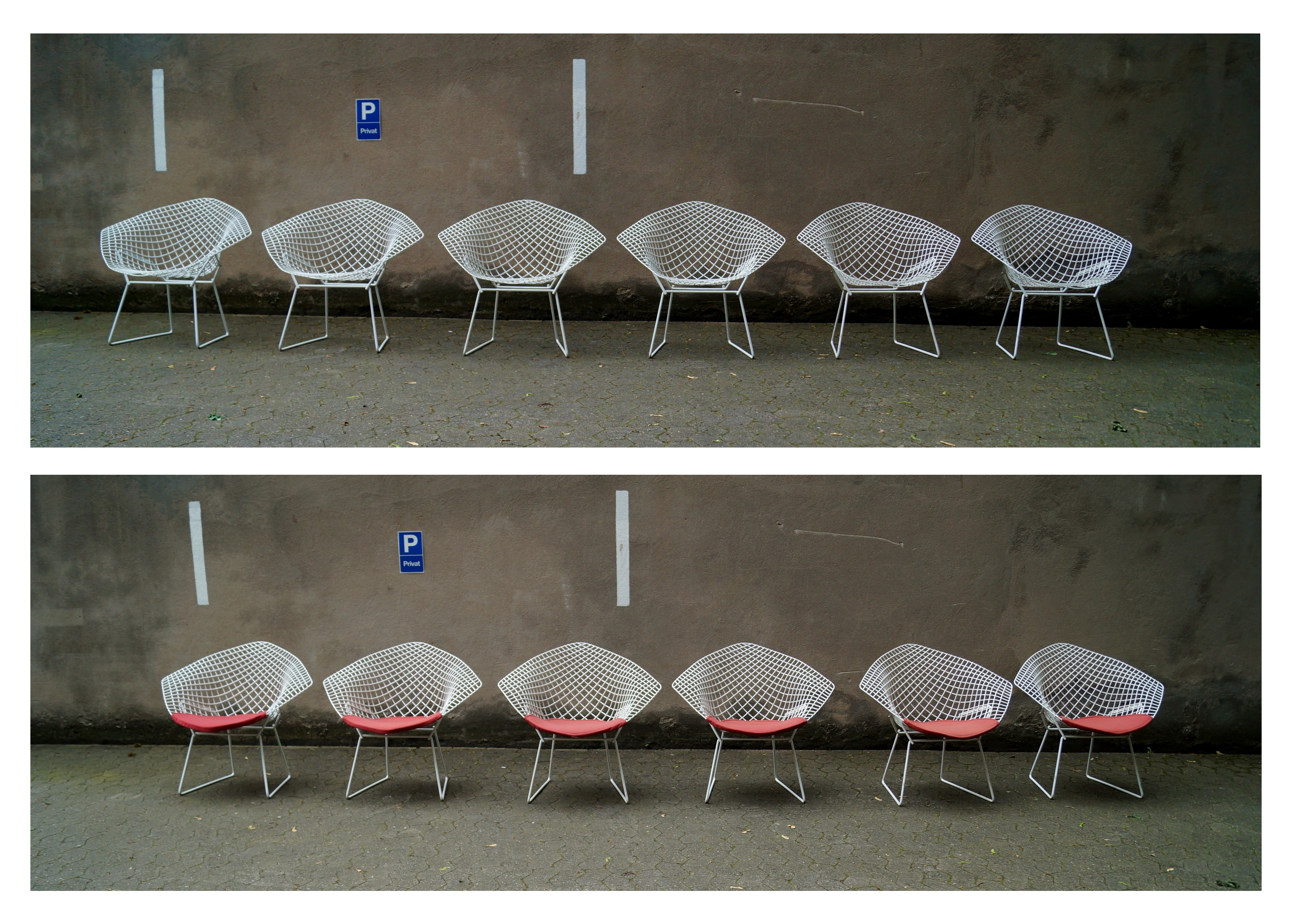 Diamond Sessel Flex Mid Century Vintage Design Nürnberg Diamond Chairs By