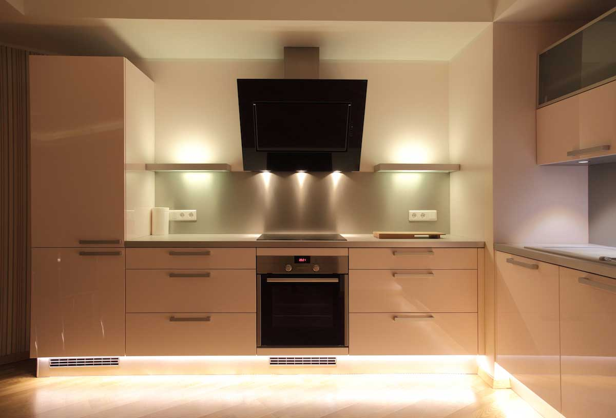 Kitchen Cabinets Under Lighting Residential Led Strip Lighting Projects From Flexfire Leds