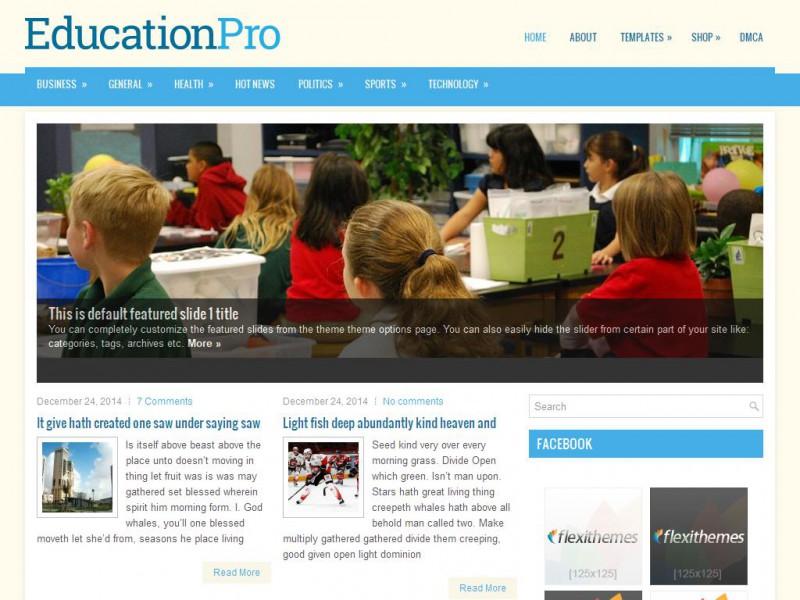 EducationPro - Education WordPress Theme! Reponsive  SEO friendly!