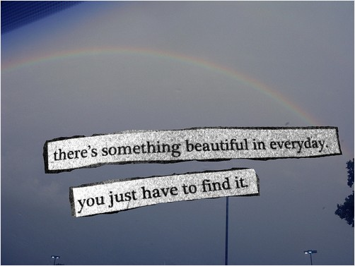 theres something beautiful in every day you just have to find it