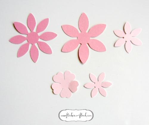 DIY paper flower card + FREEBIE template - Flicker + Flock