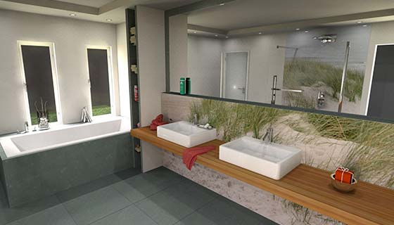 Glasbilder Badezimmer