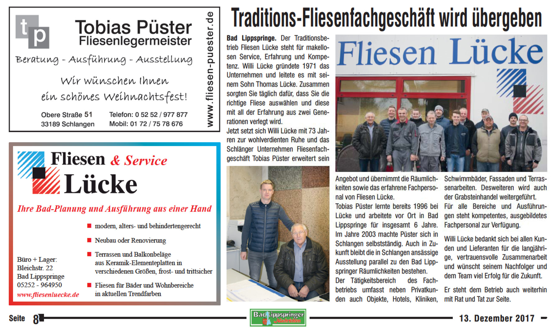 Fliesen Bad Lippspringe Fliesen Püster Gmbh Co Kg Ihr Fliesenpartner In Bad Lippspringe