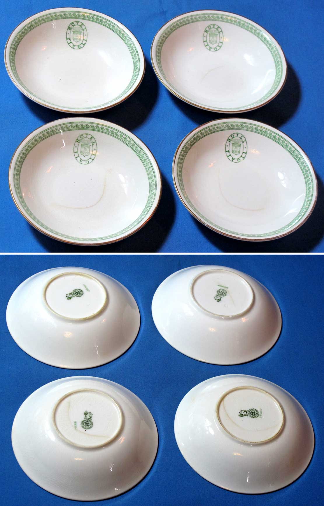 Tivoli Hotel Canal Zone Vintage Royal Doulton China Bowl Set From The Tivoli Hotel
