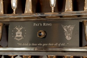 1st Lt. Patrick Wynne's ring on display at the Air Force Academy. It was lost for more than four decades. Photo courtesy of the Air Force Academy