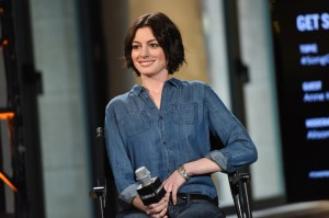 "Oscar-winning actress Anne Hathaway will portray an Air Force fighter pilot reassigned to operate a drone in a new play called ""Grounded."" (Evan Agostini/Invision/AP)"