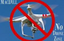 MacDill Air Force Base, Fla., is reminding airmen that it's illegal to fly personal drones on base. (U.S. Air Force graphic by Senior Airmen Jenay Randolph and Danielle Quilla)