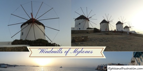 Windmills of Mykonos Greece