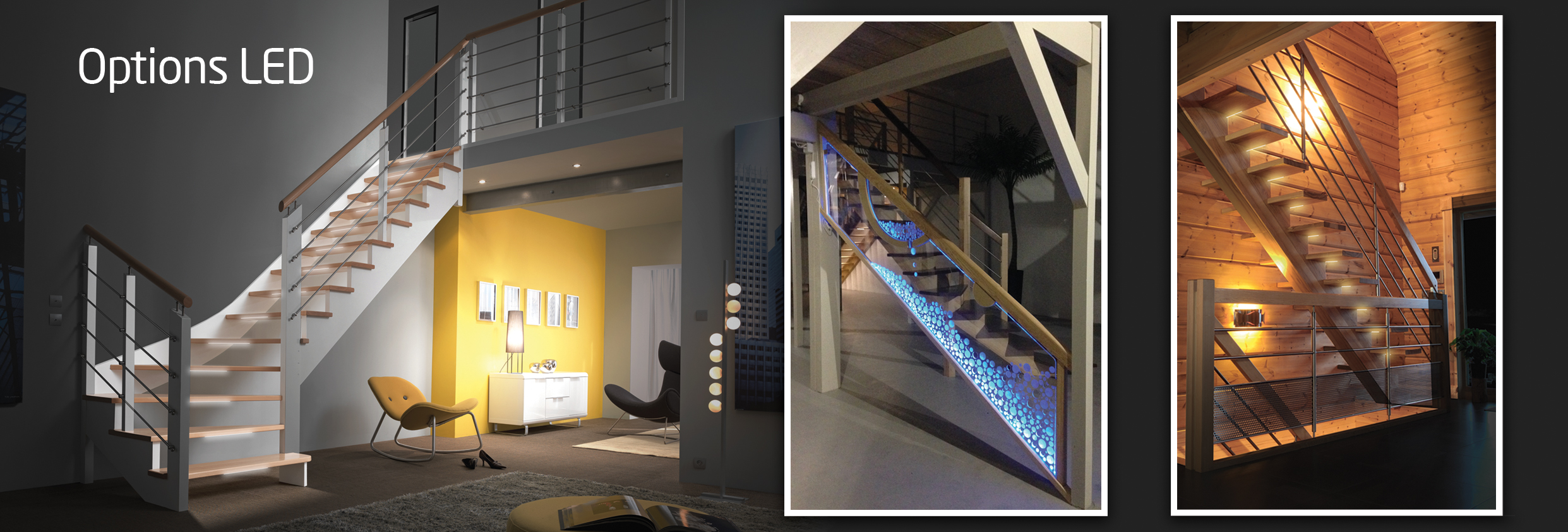 Eclairage Led Escalier Progressif Options Escaliers Flin