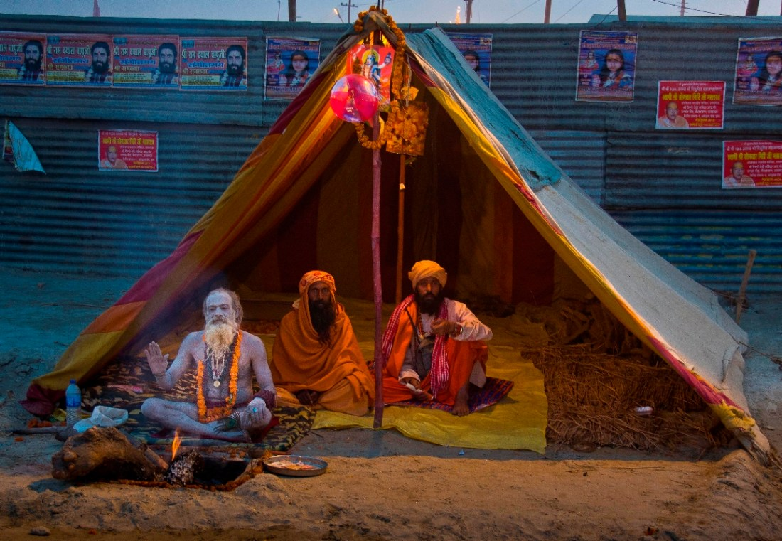 they live and sleep in makeshift tents for a month