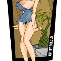 Betty Rubble shows her pretty big boobs