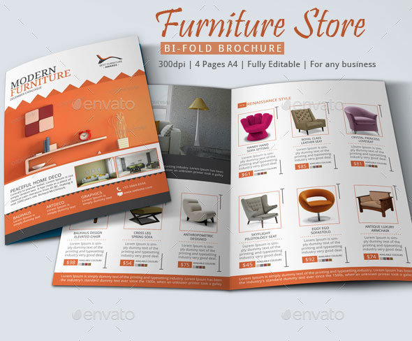 10 Beautiful Furniture Brochure Templates-Free PDF, InDesign Formats - Product Brochure Template