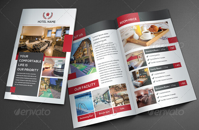 10 Glorious Hotel Brochure Templates to Amaze Your Audiences \u2013 PSD