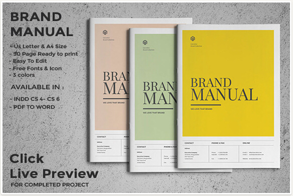 10 Professional Brand Manual Templates to Promote Brand Image \u2013 PSD