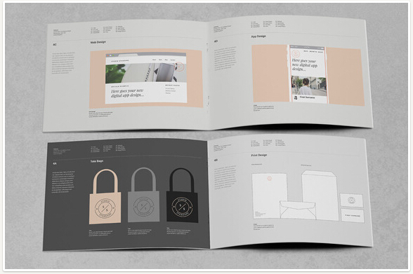 10 Professional Brand Manual Templates to Promote Brand Image \u2013 PSD - manual design templates