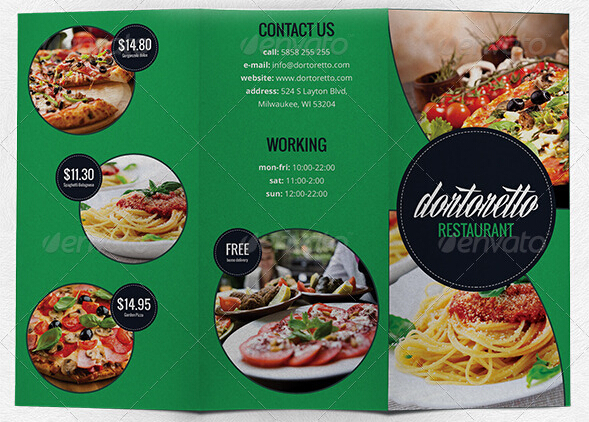 10 Amazing Food  Drink Brochure Templates \u2013 Free PSD, AI, JPG