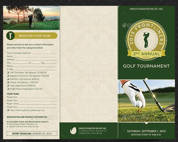 golf brochure templates