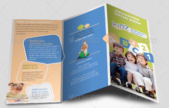 Kindergarten Brochure Template\u201310 Free PDF, PSD, AI, Vector Format - sample preschool brochure