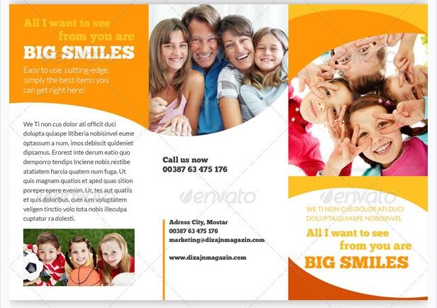 Kindergarten Brochure Template\u201310 Free PDF, PSD, AI, Vector Format