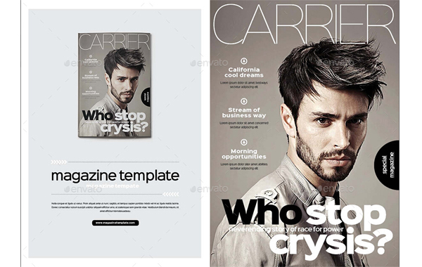 10 Attractive Men\u0027s Magazine Templates to Expand Audience Group \u2013 PS