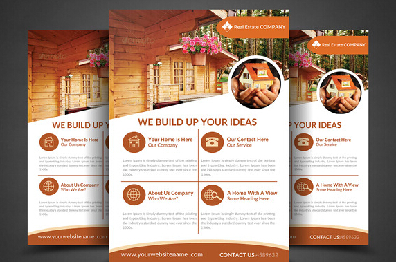 10 Professional Real Estate Agent Brochure Templates Free Download _ - advertising flyer templates free