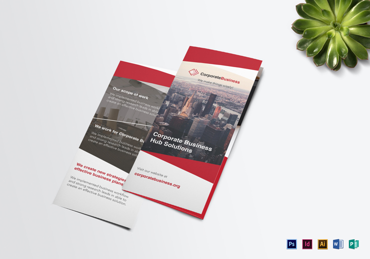 12 High Quality  Printable Tri-Fold Brochure Templates in All Formats _