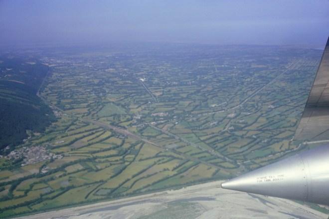 1960 年代台中清泉崗美軍基地空中俯瞰圖