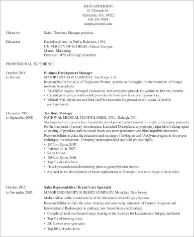 Resume for medical device sales representative websites that pay you