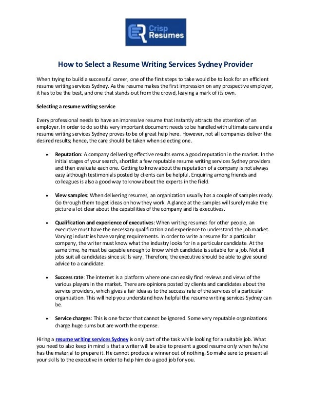 Resume writing companies monster resume writing service