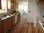 Hardwood Floors In Kitchen With Oak Cabinets