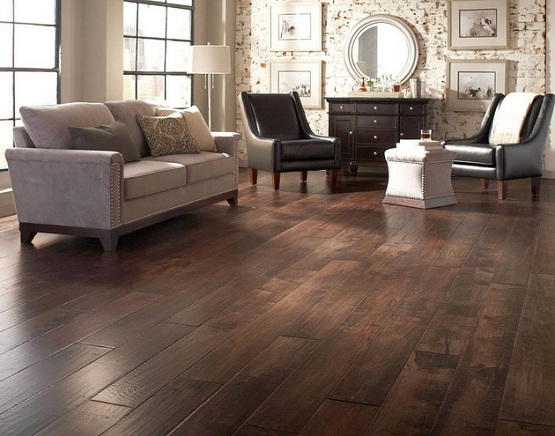 Dark Wood Floor Living Room In Exhilarating Styles And Designs - living room with wood floors