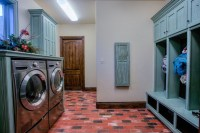 Brick laundry room floors