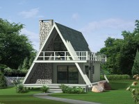 Grantview A-Frame Home Plan 008D-0139   House Plans and More